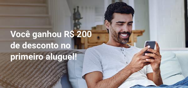 Você ganhou R$ 200 de desconto no primeiro aluguel!